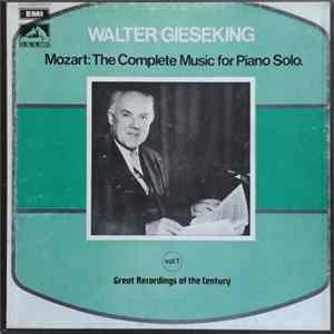 Walter Gieseking, Mozart - The Complete Music For Piano Solo Vol.1